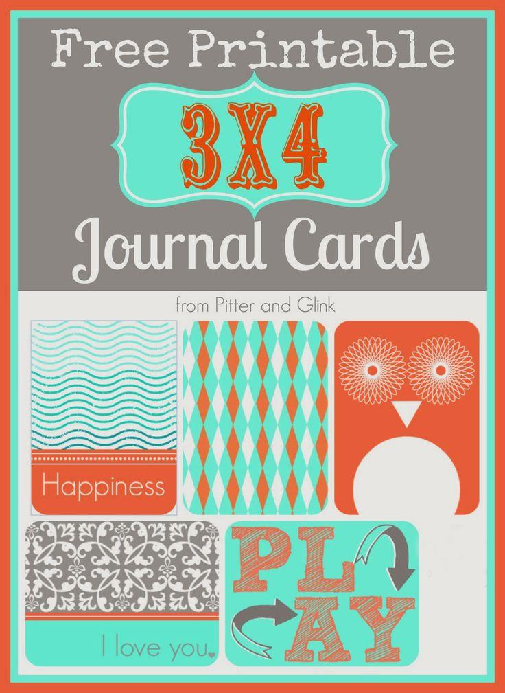 PitterAndGlink: {Free Printable 3x4 Journal Cards}