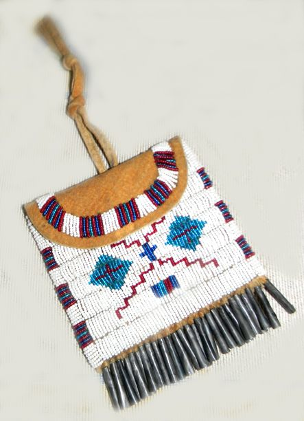 Beaded Medicine Bags, Pipe Bags, Tobacco & Strike A Lite Bags, Native American