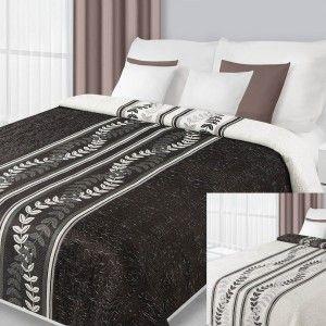 Obojstranný čierno - biely prehoz na posteľ