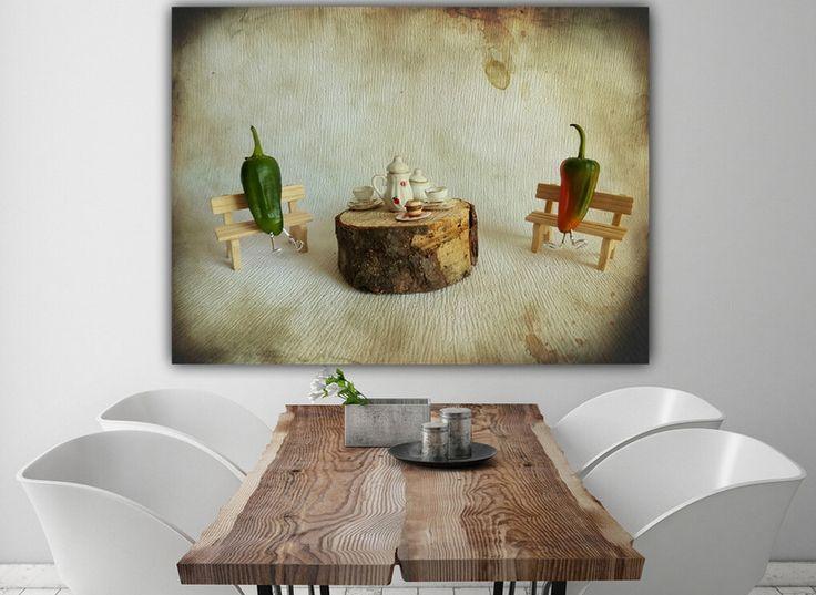 """Farbe - Leinwand """" Chilling Time  """" 80 x 60 cm - ein Designerstück von Heavensblue-Fotografie bei DaWanda"""
