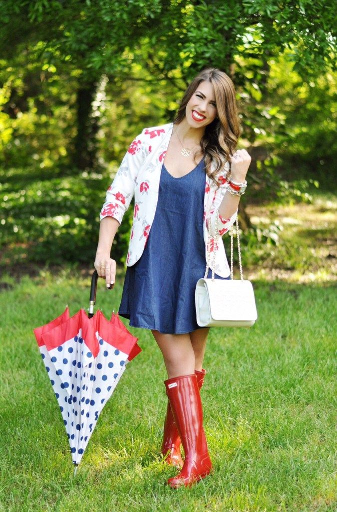 memorial day, happy memorial day, memorial day fashion, red white and blue fashion, patriotic fashion, red white and blue outfit inspo, polka dot umbrella, denim dress, red hunter boots, tory burch purse, happy mdw, memorial day weekend, memorial day weekend sales, mdw weekend sales, the best sales of memorial day, heres the skinny, heres-the-skinny, here's the skinny, here's-the-skinny, the skinny by bailey schwartz, here's the skinny blog, here's the skinny by bailey schwartz, bailey…