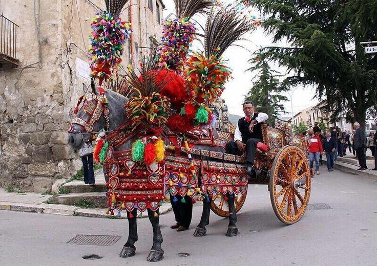 """u carrettu siciliano"" one of the symbols of the Sicilian folk iconography"