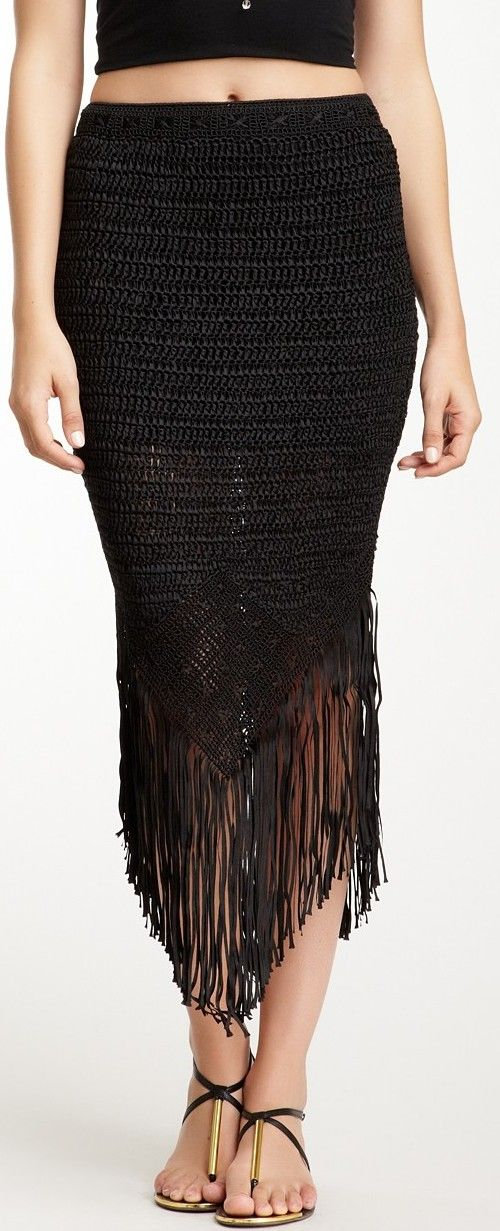 Haute Hippie Crochet Skirt