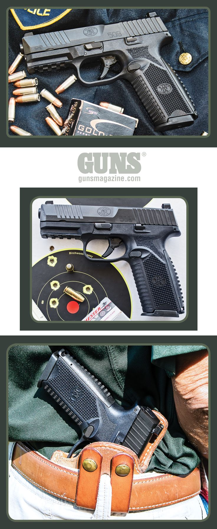 Ready To Serve: The FN 509 | By Massad Ayoob | Not Just Another Striker-Fired 9mm Service Pistol! | The pistol's thoughtful layout of controls provides the ease of use a duty or self-defense gun requires. | © GUNS Magazine 2018