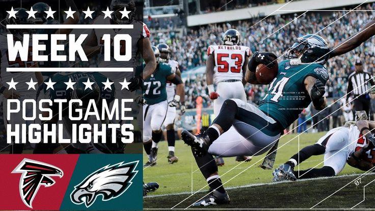Falcons vs. Eagles | NFL Week 10 Game Highlights - NFL News Videos