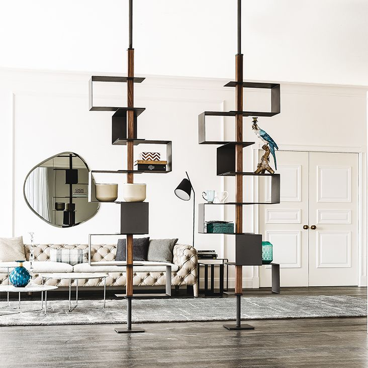 Open Floor Ceiling Mounted Bookcase TOKYO By Cattelan Italia Design Andrea Lucatello
