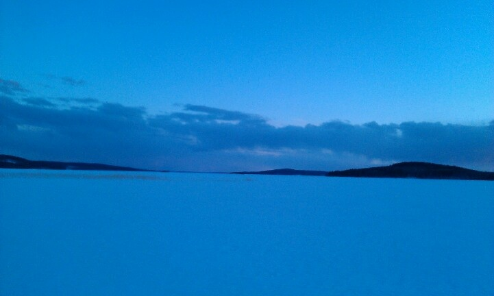 What a lake, blue moment 27.3.2013