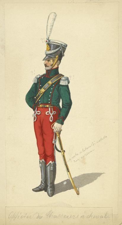 Kingdom of Naples Officer Chasseurs a Cheval 1810-12