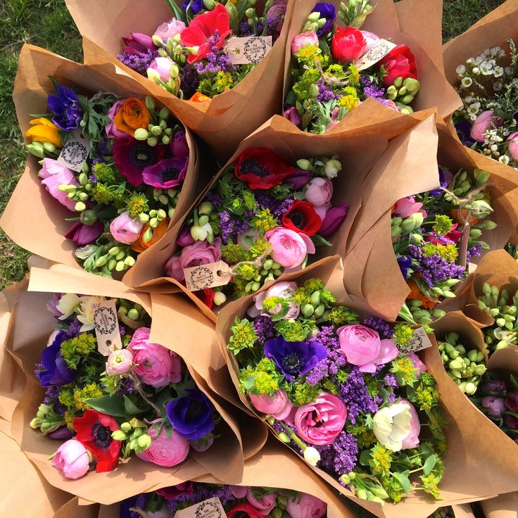 Little posies full of spring flowers