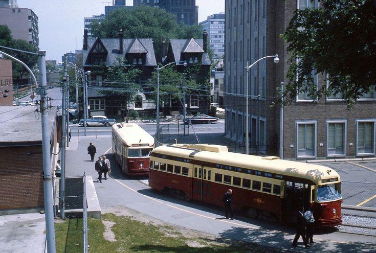 TTC PCCs at Bedford loop Toronto early c1960s