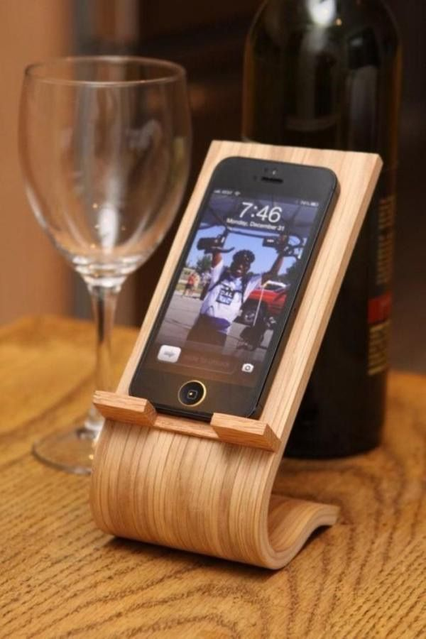 Wood iPhone holder                                                       …