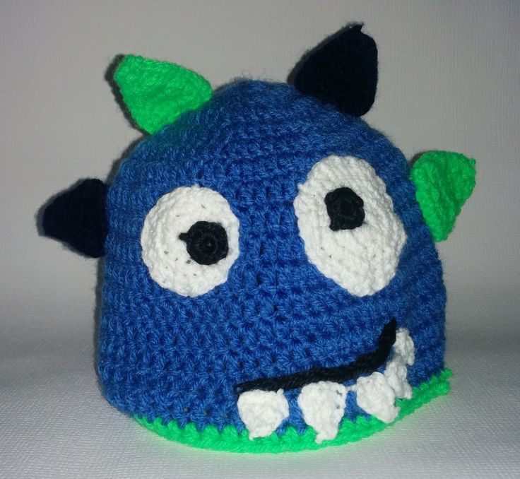 Junior crochet monster hat