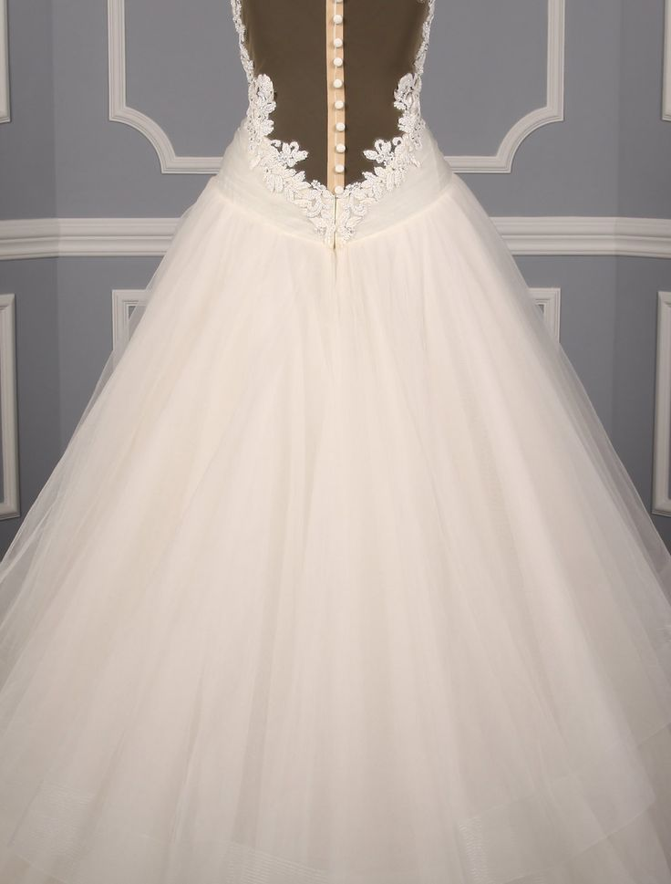 This 100% Authentic Kenneth Pool Polina K483 wedding dress will make you feel like a true princess.  Wait until you see the back of this gown!  The sheer design is the utmost of elegance!!  You will definitely 'wow' your wedding guests when you walk down the aisle in this incredible wedding dress! #kennethpool