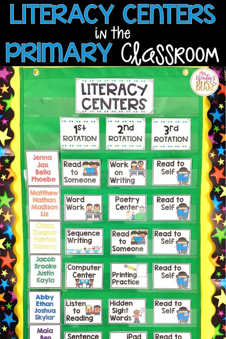 printable literacy centers first grade