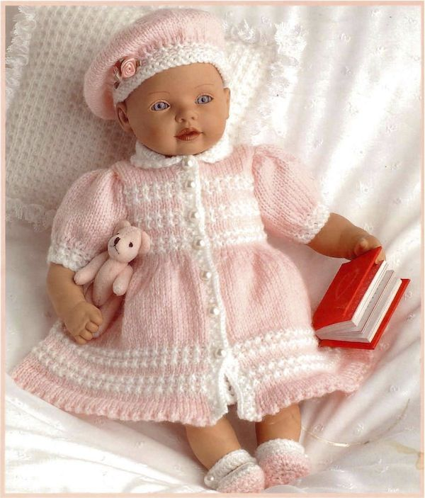 Posh Pink Baby Outfit free knit pattern baby born 1 Pinterest Patterns,...