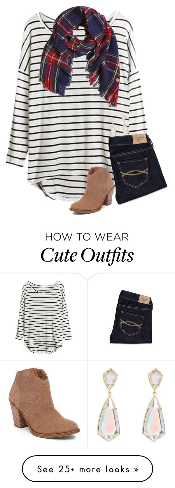 """{pattern mixing is so cute, but I just can't pull it off...}"" by preppy-southern-girl-1-2-3 on Polyvore featuring Abercrombie & Fitch, Lucky Brand, American Outfitters and Kendra Scott"