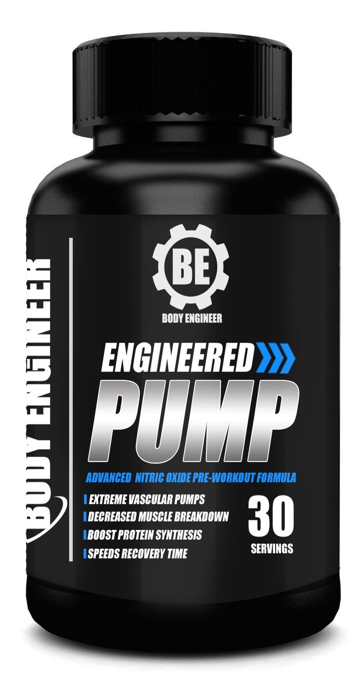 Engineered Pump by Body Engineer - Best L-Arginine Nitric Oxide Booster Supplement for Men and Women to Support Building Muscle, Speeding Recovery, Heart Health and Improving Sex