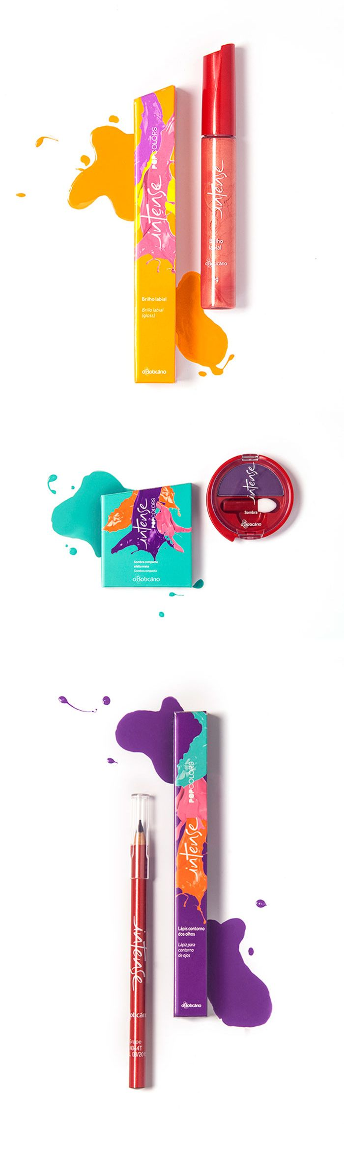 "Beautiful makeup box art! The colors are eye catching and go great together. Also, the piece as a whole has a really neat ""pop out"" effect with the matching nail polish and boxes."