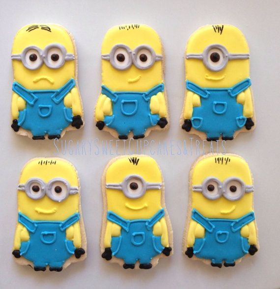 Minions attack 12cookies by SugarySweetCookies on Etsy, $45.00