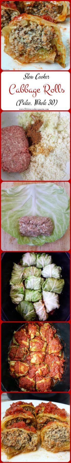 Paleo Crock Pot Cabbage Rolls Recipe