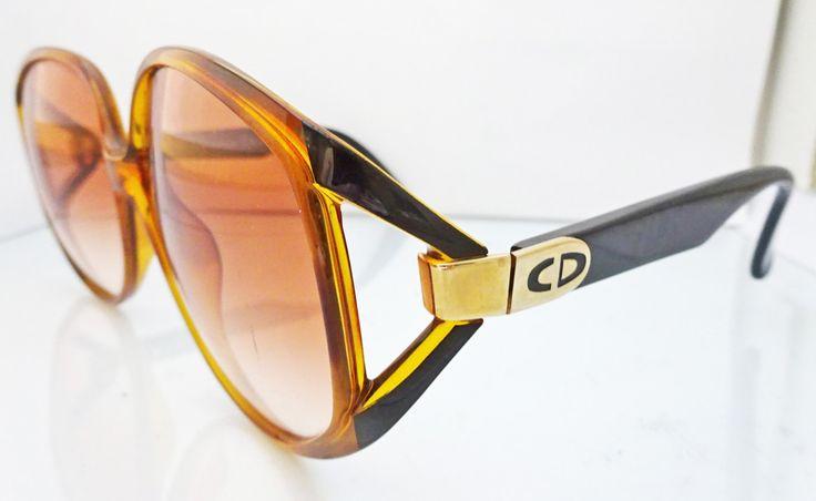 VINTAGE Christian Dior Sunglasses 2320   occhiali da sole   tortoise brown frame   Ladies glasses by arwcreation on Etsy