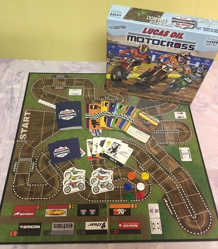 Lucas Oil Pro Motocross Championship Unplugged Board Game - Great Condition! #goodolegames