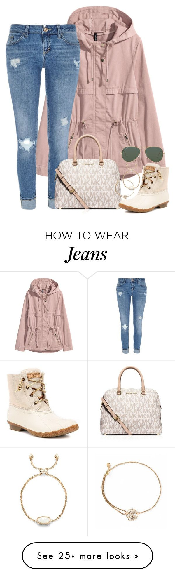 """""""please please please read description!!!"""" by kaley-ii on Polyvore featuring River Island, MICHAEL Michael Kors, Sperry, Alex and Ani, Kendra Scott and Ray-Ban"""