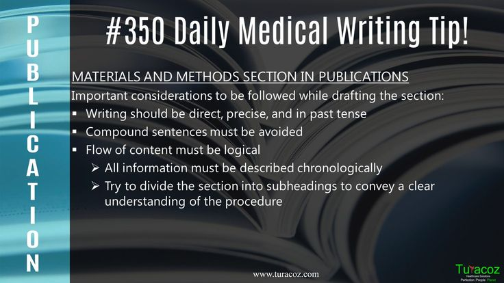 #TuracozHealthcareSolutions tells the points to be considered in drafting #MaterialsAndMethods section.