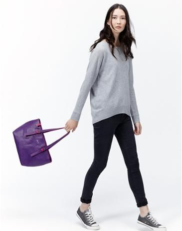 Joules Womens Faux Leather Shoulder Bag, Blueberry.                     Lightweight and hardwearing faux leather allows us to add colour in ways we couldn't with real leather, so if you're after an eye-catching shoulder bag to house all your everyday essentials, look no further.