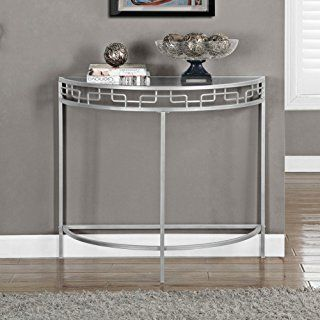 Monarch Specialties Silver Metal Hall Console Accent Table I 2110