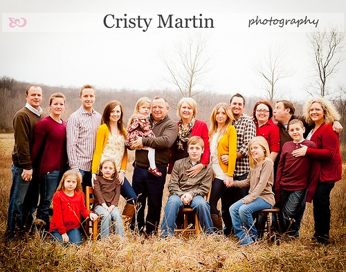 Large Family. Fall, yellow, red, brown
