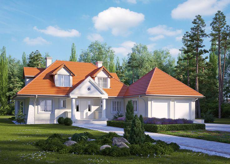LK&293 - dom jednorodzinny w stylu dworkowym