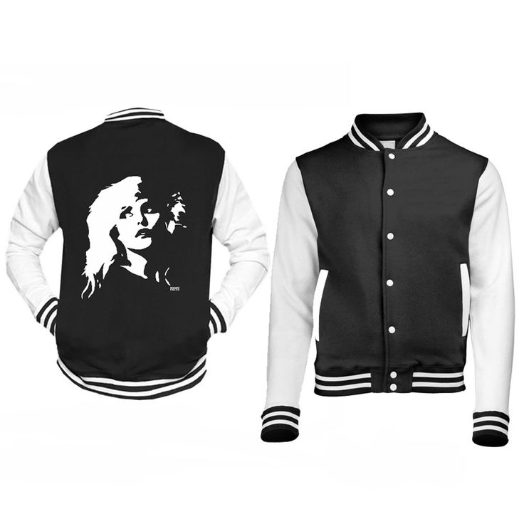 Blondie Unisex Vintage Jacket, Personalised Varsity Jacket, Custom Baseball Jacket, Black White Jacket, Debbie Harry Jacket, Sister Gift by MONOFACESoADULT on Etsy