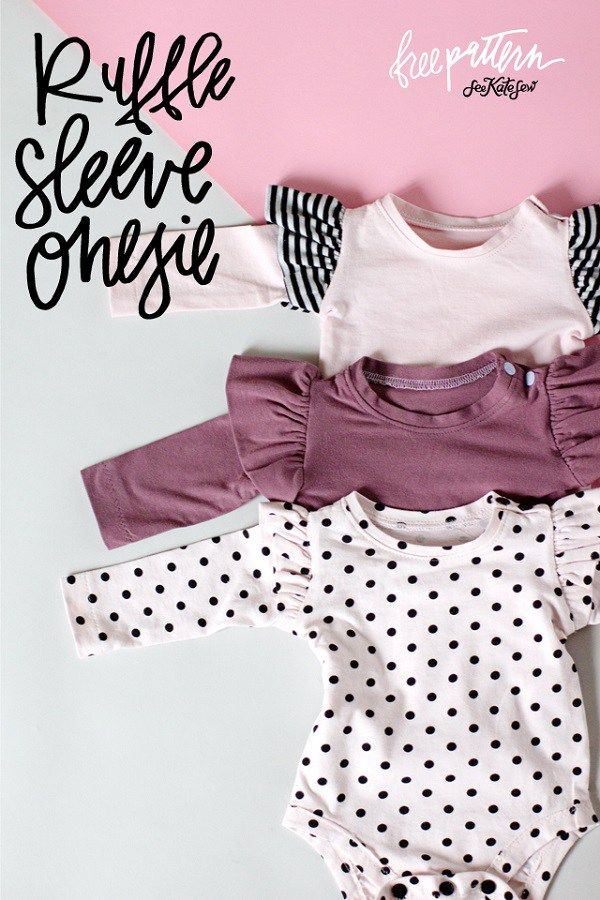 Free pattern: Ruffle sleeve baby onesie