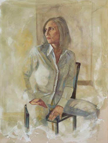 """""""Flavia"""" 2011, pastello e olio su tela, cm 120 x 90"""