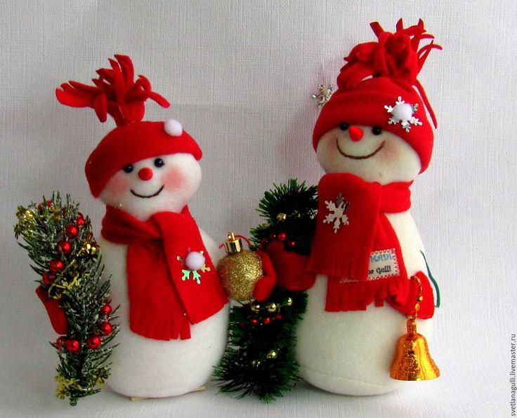 Купить Интерьерная игрушка СНЕГОВИК, Снеговик с ёлкой, Снеговичок из леса - снеговик, снеговичок, снеговики, снеговички