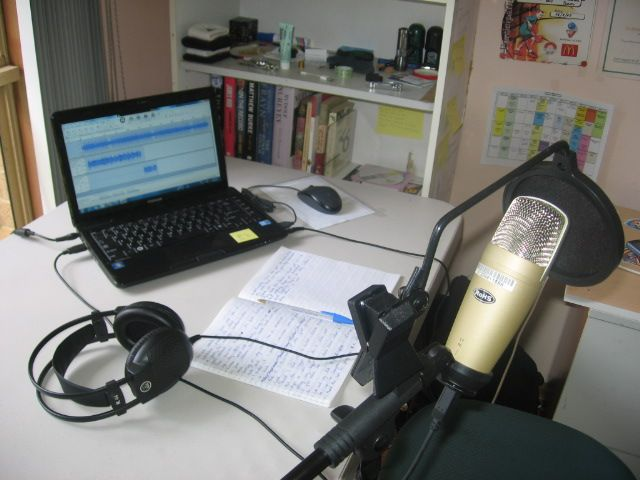 Recording stuff; computer, mic, headset and of course my book of rhymes... good times #rap #hiphop #lyrical #rhyming