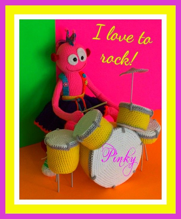 This new pattern covers everything The Dolls, Guitar, Full Drum Set and the Monster Hats! All of this for Only $2.99 http://spotconnie.blogspot.com/