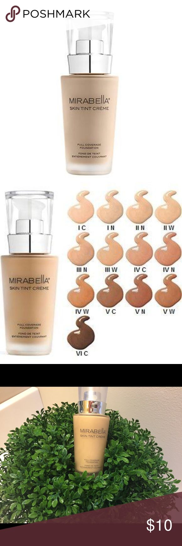 Mirabella Skin Tint Creme II N Mineral based foundation, medium coverage Over half full...only used handful of times Mirabella Makeup Foundation