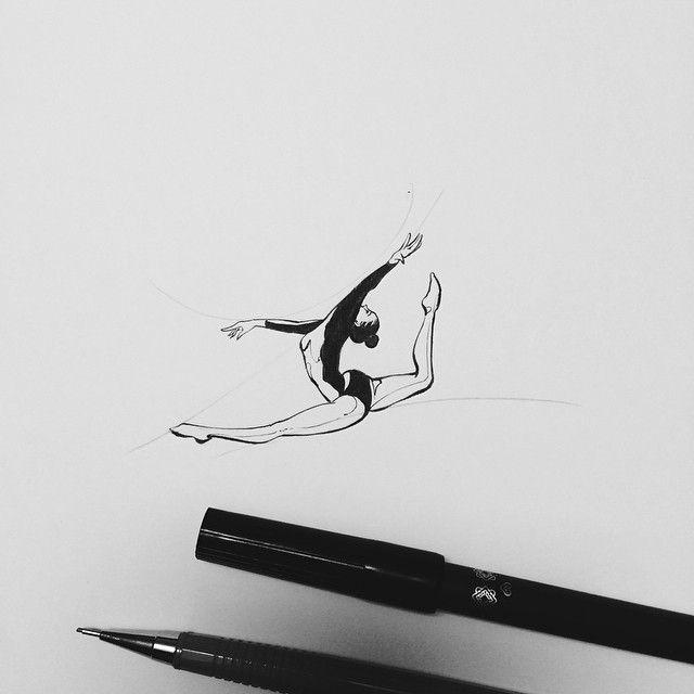 : gymnastics tattoo design  기계체조 선수를 위한 타투 디자인입니다  #tattoo #tattoodesign #design #tattooistdoy #drawing #sketch #illust #타투 #타투이스트도이