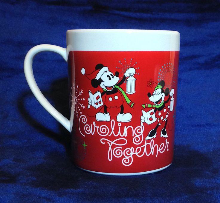 "Mickey & Minnie Mouse Christmas Cup / Mug - ""caroling Together"" By Zak - Disney"