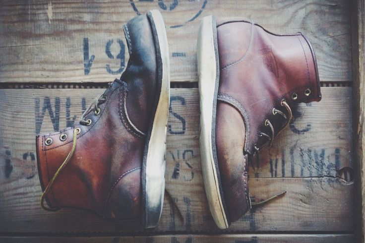 old red wing shoes 875D. Picture taken by the owner.