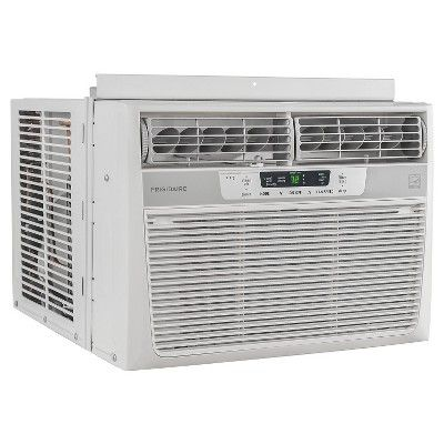 Frigidaire - 12000-Btu 115V Window-Mounted Compact Air Conditioner with Temperature Sensing Remote - White