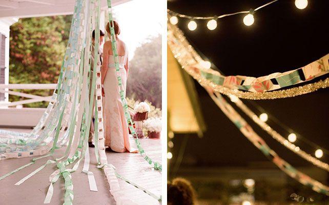 Как самостоятельно сделать яркие и простые гирлянды для декора свадьбы