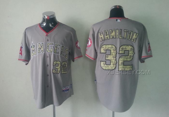 http://www.xjersey.com/angels-32-hamilton-grey-camo-number-jerseys.html ANGELS 32 HAMILTON GREY CAMO NUMBER JERSEYS Only $34.00 , Free Shipping!