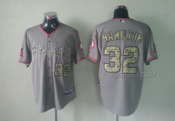 http://www.xjersey.com/angels-32-hamilton-grey-camo-number-jerseys.html ANGELS 32 HAMILTON GREY CAMO NUMBER JERSEYS Only $34.00 , Free Shipping!
