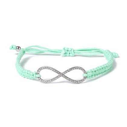 Macramé Crystal Infinity Bracelet is perfect for stacking #moreismore  I have this thing for infinity signs...