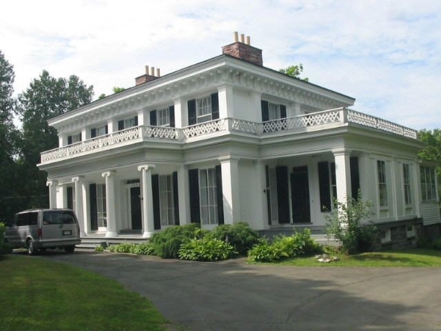 I love this Greek Revival home for sale in Sand Lake, New York    Historic Properties for Sale - On Both NY State and National Historic Places Registers