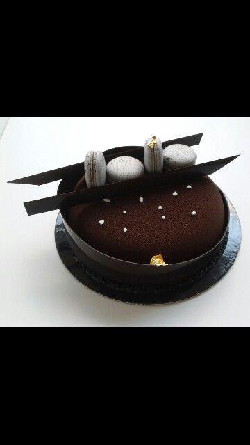 Entremet au chocolat noir