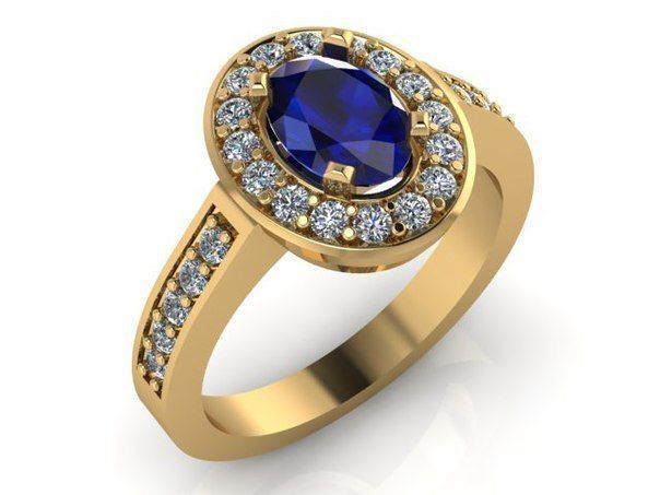 Blue Sapphire Ring 001